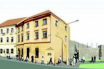 Takto by měl dům na Znojemské ulici po zbourání jeho rohu vypadat.