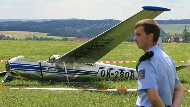 Nehoda kluzáku u Přibyslavi.