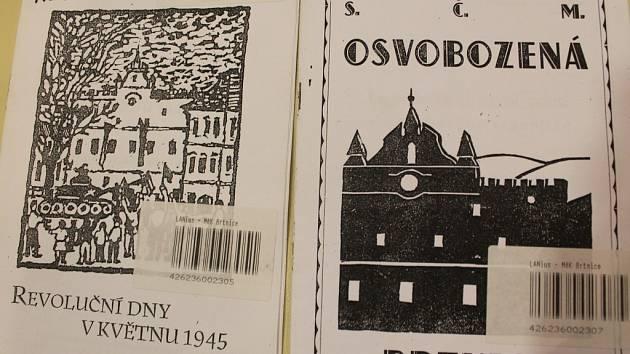 První květnové válečné dny v Brtnici zaznamenávají dvě útlé dobové publikace z let 1945 a 1960