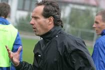 Úterní trénink jihlavských fotbalistů poprvé vedl trenér Karol Marko.