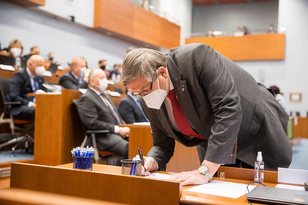 Jiří Běhounek na ustavujícím zasedání zastupitelstva Kraje Vysočina.