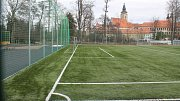 Hřiště u telčských škol na Hradecké ulici.