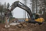 Zástupci Kraje Vysočina na kontrole stavby obchvatu u Velkého Beranova.