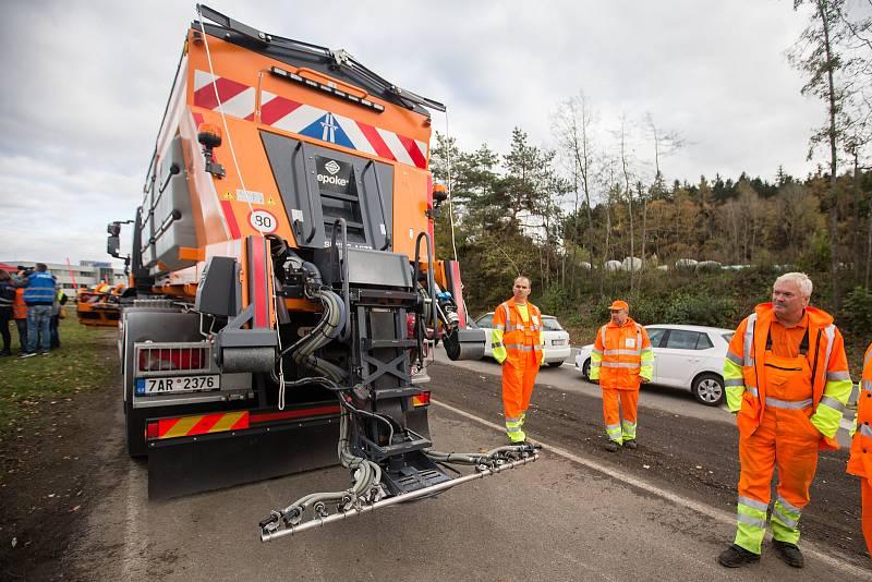 Brífink k zahájení zimní údržby dálnice D1.