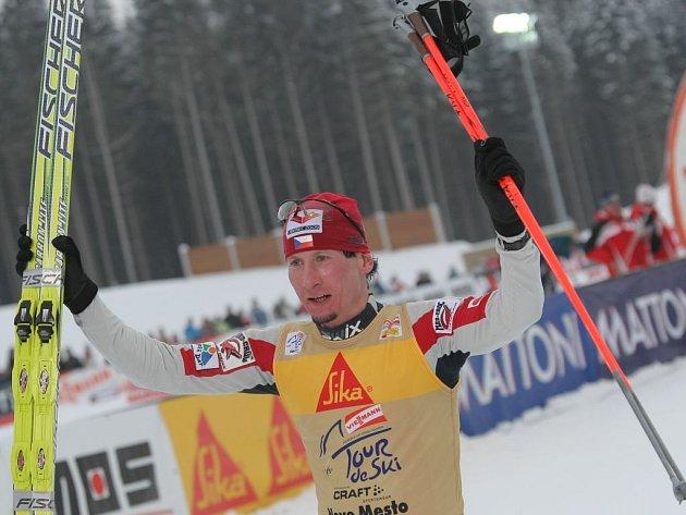 Lukáš Bauer byl včera v Novém Městě na Moravě nejlepší ve čtvrté z pěti etap lyžařské Tour de Ski.