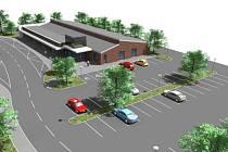 Návrhy revitalizace polenského autobusového nádraží od Fuertes Development. S velkou pravděpodobností by se mělo jednat o Penny Market o podlahové ploše kolem tisíce metrů.