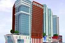 Takto by měl vypadat komplex, který bude s největší pravděpodobností v ruském Soči stavět jihlavská společnost PSJ. Vizualizace.