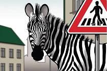 Plakát dopravněbezpečnostní akce Zebra se za tebe nerozhlédne.