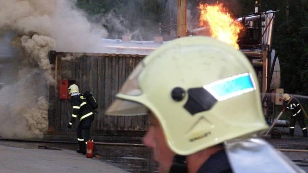 Požár kotelny.
