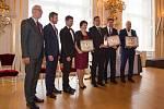 Ocenění si ve Španělském sále Pražského hradu převzala starostka Brtnice.