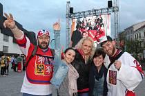 Hokejová mánie dorazila na jihlavské náměstí.