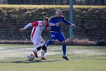 Zimní přípravné utkání mezi FC Vysočina Jihlava a FK Pardubice.