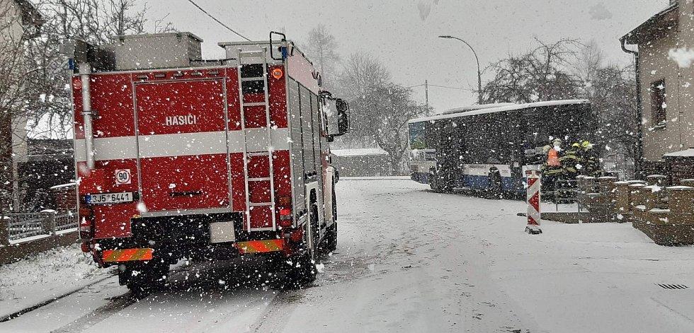 Nehoda v Jakubově na Třebíčsku.