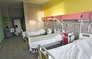 Takto vypadají čtyři pokoje v jihlavské nemocnici, které nemocnice nechala opravit díky štědrosti veřejnosti.
