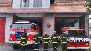 Uctění památky dvou hasičů z JSDH Koryčany.