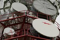 Pohled na vysílací paraboly