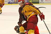 Hokejisty Dukly předehrávka 38. kola nezastihla v dobrém rozpoložení. Na severu Čech prohráli vysoko 0:5.