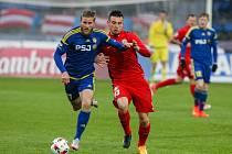 Utkání 26. kola první fotbalové ligy mezi FC Vysočina Jihlava a FC Zbrojovka Brno, 28. dubna v Jihlavě.