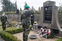 Odhalení pamětní desky brigádního generála Jaroslava Malce.
