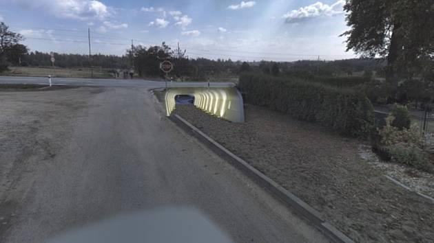 Vizualizace, jak by přibližně mohl podchod u Rudíkova vypadat.