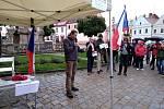 Květnové demonstrace na náměstí Zachariáše z Hradce v Telči. Foto: archiv Jany Kindlové