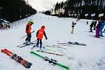 První letošní lyžování na Šacberku.