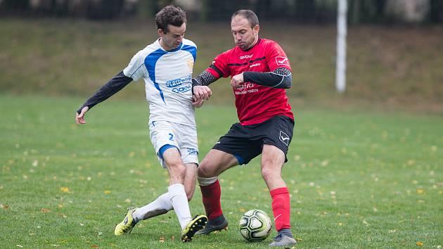 Fotbalové utkání mezi týmy Stonařova a Velkého Beranova.
