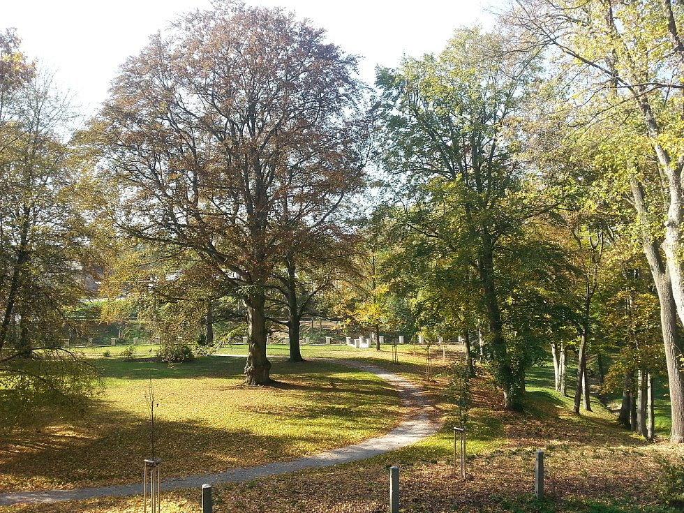 Zámecký park v Brtnici.