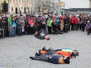 V Jihlavě vystoupil domácí parkourový tým Urban Sense.
