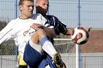 Tomáš Kaplan (v bílém na archivním snímku v dresu Slavoje Polná) nyní nosí barvy Nadějova, za který dal ve třetí třídě už šestnáct gólů.