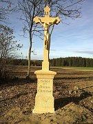 Obnovený. Takto vypadá nový kříž u Vysoké.