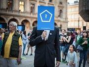 Akce měla už několik happeningů v hlavním městě. S projektem jezdí také matematik Karel Janeček.