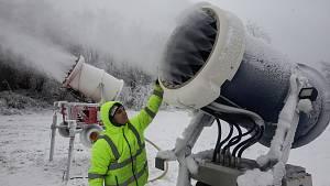 Zasněžování Ski areálu v Lukách nad Jihlavou