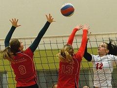 Šárka Semerádová (s číslem 12) by měla být jednou z opor extraligových juniorek KCTM Volejbal Vysočina.