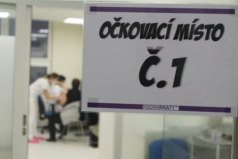 Očkování zdravotníků proti koronaviru na Vysočině.