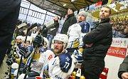 Zápas 1. kola baráže o hokejovou extraligu HC Dukla Jihlava a- HC Rytíři Kladno .