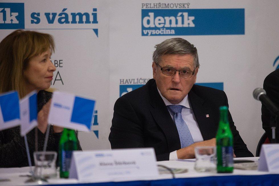 Setkání s hejtmanem Kraje Vysočina Jiřím Běhounkem.