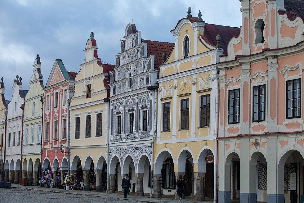 Historické jádro města Telč.