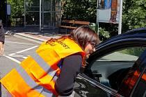 Policie spolu s Besipem kontrolovala řidiče v obci Čížov na Jihlavsku.