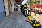 Zásah hasičů v jihlavské firmě.