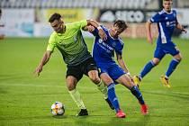 Fotbalové utkání 6. kola FNL mezi FC Vysočina Jihlava a 1. SK Prostějov.