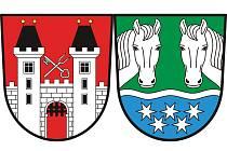 Pro městys Dolní Cerekev není podoba znaku neznámá. Koňské hlavy odkazují na minulost obce Stáj.