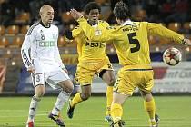 Jedinou branku jihlavských fotbalistů proti Karviné zaznamenal záložník Gabriel (s číslem 2). Hromadu dalších příležitostí jeho spoluhráči zahodili, a tak se oba soupeři rozešli smírně.