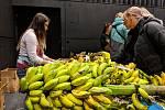 Den plný exotických chutí v jihlavském DIODu. Lidé si banány a další věci z Afriky odváželi po krabicích.