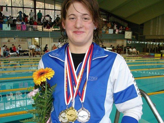 Barbora Picková si přivezla tři zlata.