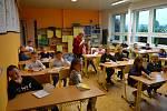 Ve Zhoři se letos počet žáků základní školy dostal na stovku.