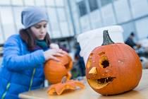 Dýňování zpestřilo podzimní prázdniny dětem v Polné.
