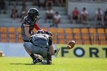 Zápas amerického fotbalu mezi Vysočina Gladiators a Blades Ústí nad Labem.