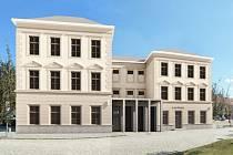 Budoucí podoba nové budovy pro ZUŠ, realita se ještě může v určitých detailech lišit.