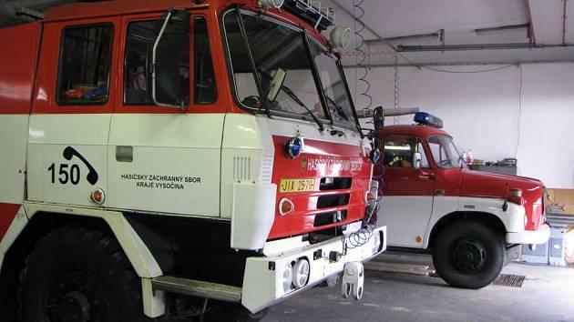 Vozový park hasičů z Telče